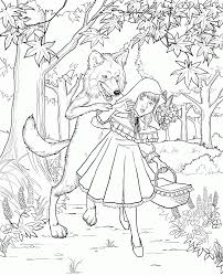 Free Little Red Riding Hood Colouring Pictures