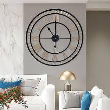 golden runde vintage wanduhr wohnzimmer uhr römischen