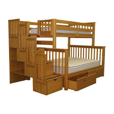 Woodcrest Bunk Beds by Wooden Bunk Beds With Futon Roselawnlutheran