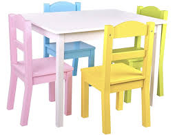 Pidoko Kids Table And Chairs Set - 4 Chairs And 1 Activity Table For  Children - Educational Toddlers Furniture Set (White/Pastel)