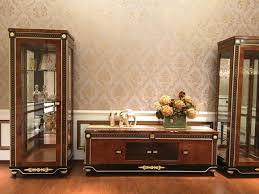 wohnwand vitrine konsole schrankwand glasvitrinen wohnzimmer barock rokoko e69