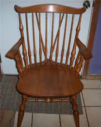 Nichols And Stone Windsor Rocking Chair by Nichols And Stone Maple Windsor Armchair Dinette Chair Ebay