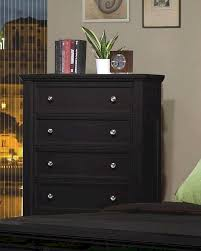 coaster sandy beach 5 drawer chest in black co 201325