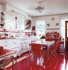 Kitchen DesignAwesome Red And White Accessories Colors Modern Cabinets