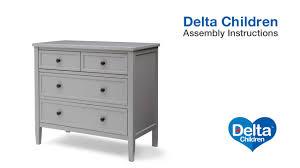 delta children epic 3 drawer dresser assembly video youtube