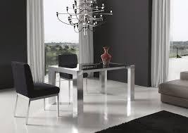 Modern Minimalist Dining Room Sets With Unique Chandelier Design
