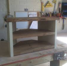 Shabby Chic Chunky Solid Wood Corner TV Stand