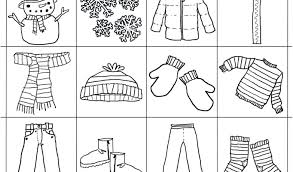 Coloring Winter Clothes Page Download By Wear Sheets