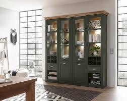 buffetschrank cambridge 194cm grün wotan eiche vitrinenschrank wohnzimmer modern