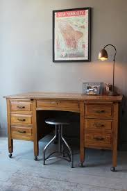 large vintage oak school teachers desk my office pinterest