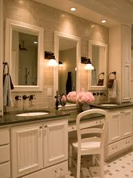 double vanity makeup area houzz