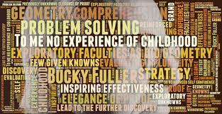 Buckminster Fuller Quote Geometry Childhood Word Cloud