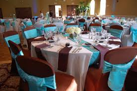 Outstanding Wedding Dining Table Decoration Settings Blue Brown And On Pinterest