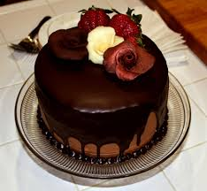 chocolate birthday cakes with roses