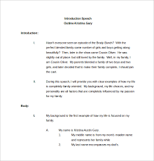 Sample Speech Outline Template 9 Free Documents Download in PDF
