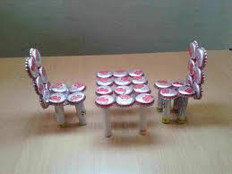 Handicraft Using Waste Materials Craft Ideas By Recycling Material Youtuberhyoutubecom Make Miniature Table Chairs From Bottle