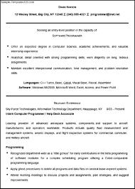 Programmer Sample Resume