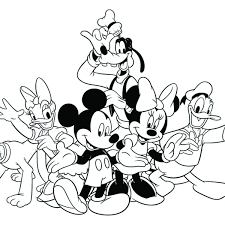 Download Coloring Pages Friends Mickey Christmas Page Disney And Free