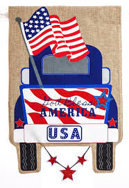 100 Truck Outlet Usa Patrotic Pickup Burlap Garden Flag 14b4186bl Country Yard