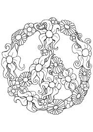 Free Printable Peace Sign Coloring Page