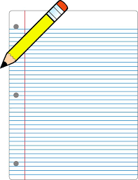 Notebook clipart homework paper Pencil and in color notebook