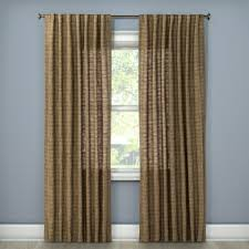 Jcpenney Thermal Blackout Curtains by Textured Weave Back Tab Window Curtain Panel Brown 54