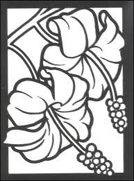 Tropical Flowers Small Format Stained Glass Coloring Book