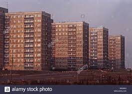 100 Warsaw Apartments High Rise Workers Apartments In Suburbs Poland Stock