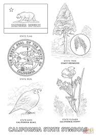 California State Symbols Coloring Page