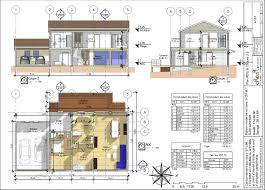 plan maison contemporaine plain pied 3 chambres plan maison 3 chambres etage cheap ordinaire plan maison etage