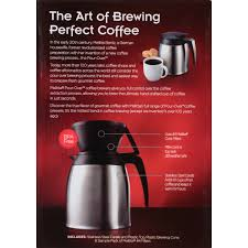 MelittaR Pour OverTM Brewer 10 Cup Coffee Maker With Stainless Thermal Carafe