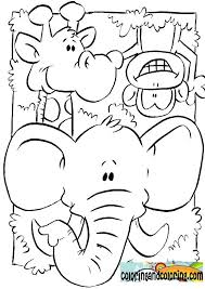 Jungle Animals Coloring Pages For Kids And Printable Farm Colouring Free