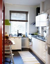 Delightful Images Of Kitchen Decoration Using Compact Cabinet Small Square