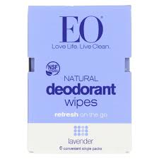 Eo Products Deodorant Wipe - Lavender - Case Of 12 - 6 Count ...