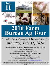 4 h farm bureau ag tour
