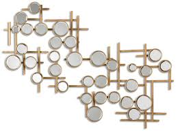 Gold Metal Wall Decor Regaling Full Size With Ideas Art