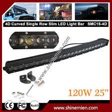 12v 24v cr ee 4d led light bar 25 inch 120w slim single row spot
