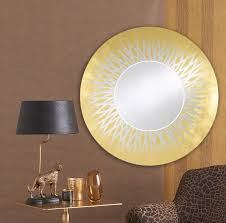 casa padrino designer wohnzimmer spiegel wandspiegel gold ø 105 cm luxus kollektion