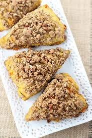 Pumpkin White Chocolate Chip Scones by Pumpkin Pecan Scones With Brown Sugar Streusel