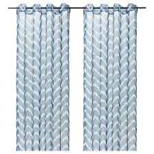 ikea sagalill gardinenstore paar blau weiß 145x300 cm