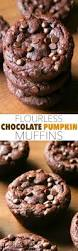 Healthy Chocolate Pumpkin Desserts by Flourless Chocolate Pumpkin Muffins Running With Spoons