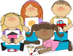 School Kids Coloring Clip Art