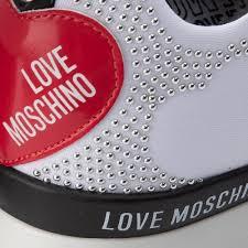 Sneakers LOVE MOSCHINO Weiss Leder Textil Damen Schuhe Love Moschino Pre Fall Winter UKXWYOIWQ