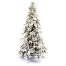 Flocked Long Needle 9 Green Pine Tree Artificial Christmas With 750 Clear UL Lights