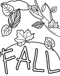 Fall Coloring Pages For Kids Activities