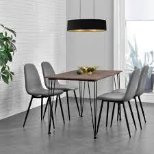 en casa essgruppe 5 tlg vihti esstisch mit 4 stühlen 120x70cm grau kaufen otto
