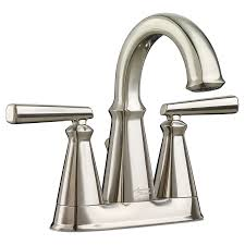 Brushed Nickel Bathroom Faucets Cleaning by Kirkdale Centerset Bathroom Faucet American Standard