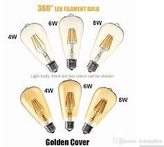 bright e27 led filament bulbs light 360 angle st64led lights