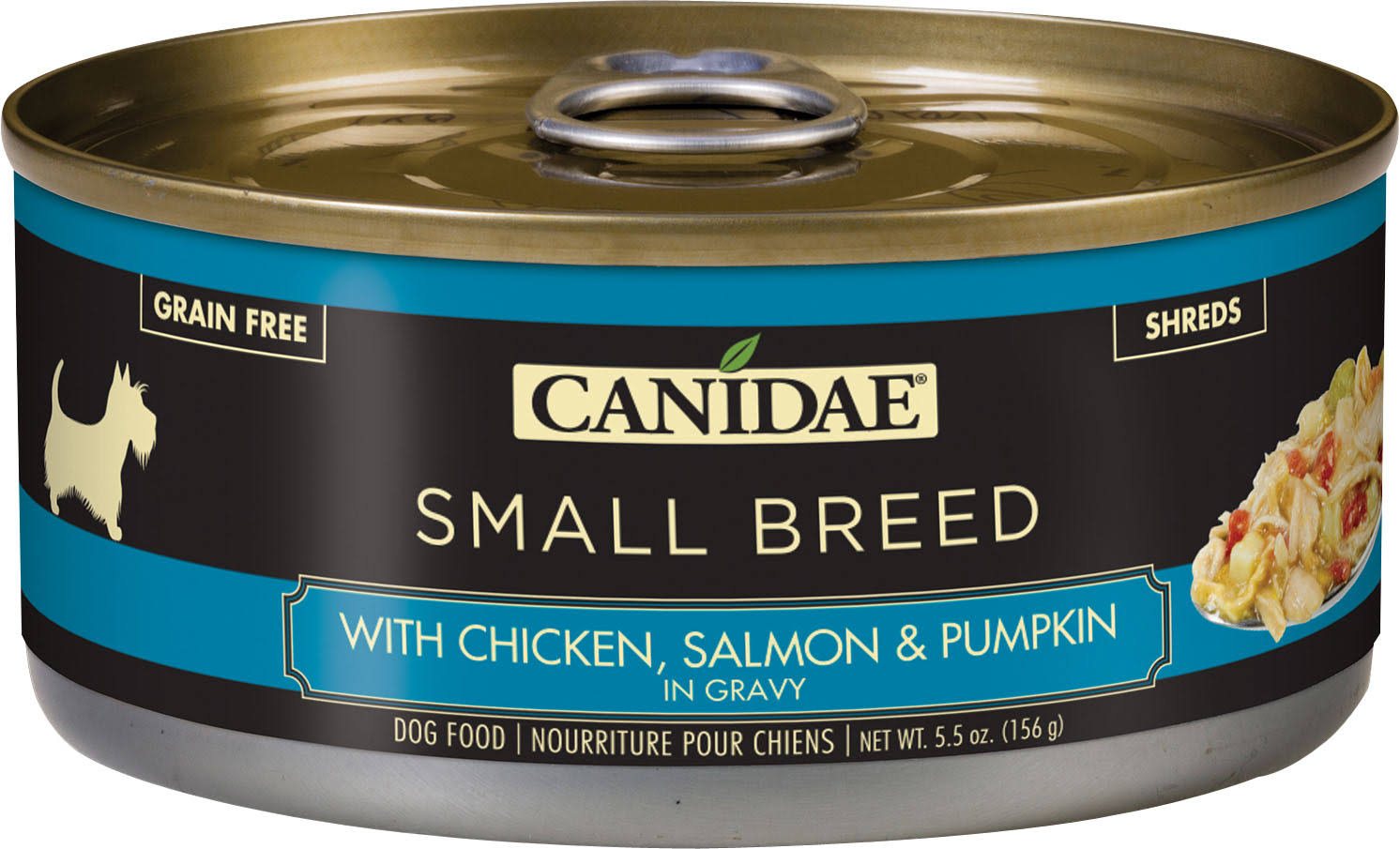 Canidae Grain Free with Chicken, Salmon & Pumpkin in Gravy Small Breed Dog Food Shreds - 0.34 lb