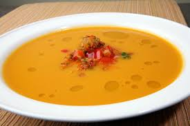 Spicy Pumpkin Butternut Squash Soup by Nick Stellino Butternut Squash Soup With Confit Of Peppers